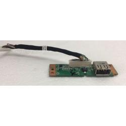 Placa con puerto USB-07638-1 para Acer Extensa 5230